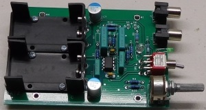 1 kHz 2 PPM oscillator PCB and components