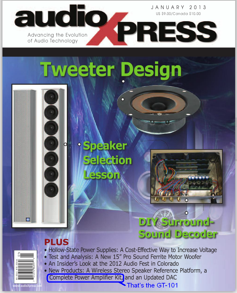AudioXpress January 2013 Cover