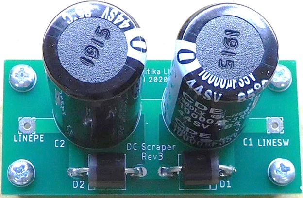 diy pcb DC BLOCKER POWER SUPPLY