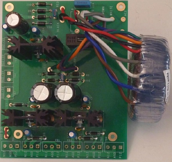 Triple Output Regulated Power Supply