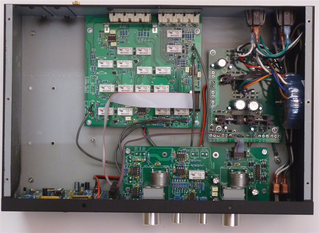PR-101 Stereo Preamplifier Top View with Lid off